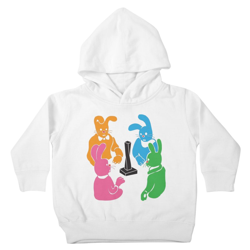 Bunny Presents Kids Toddler Pullover Hoody by My Metal Hand Artist Shop