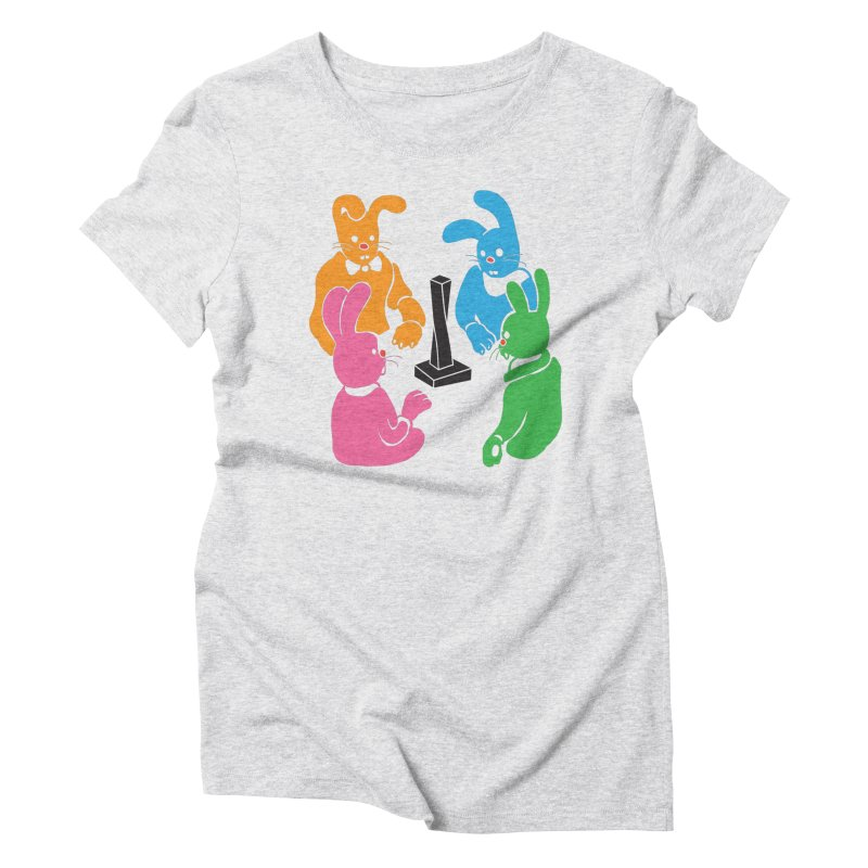 Bunny Presents Women's Triblend T-Shirt by My Metal Hand Artist Shop