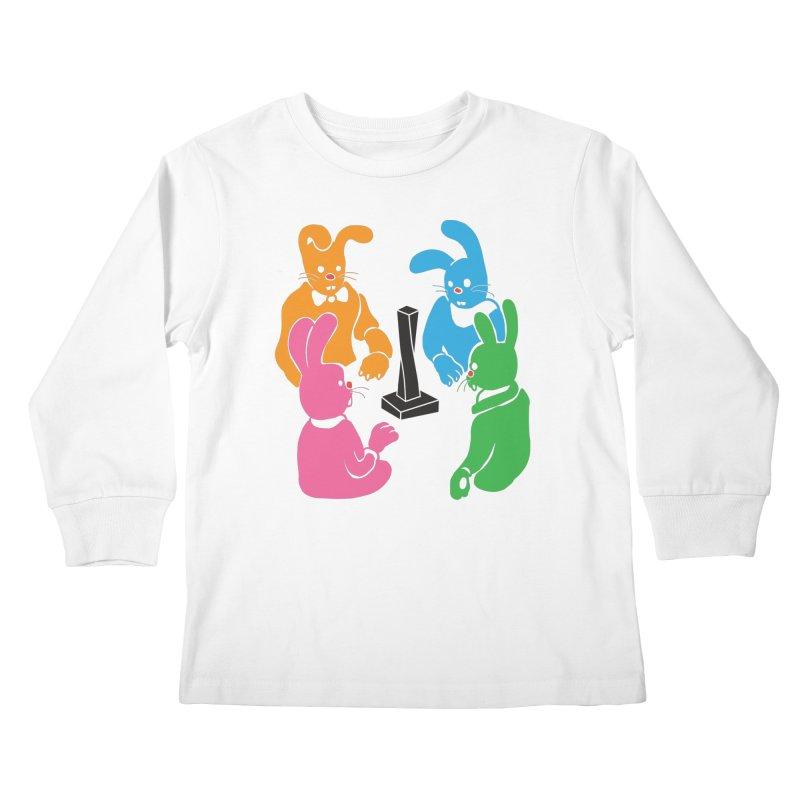 Bunny Presents Kids Longsleeve T-Shirt by My Metal Hand Artist Shop