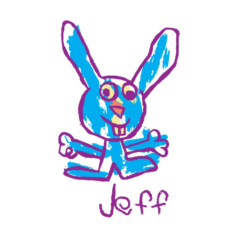 Jeff's Rabbit Drawing by My Metal Hand Artist Shop