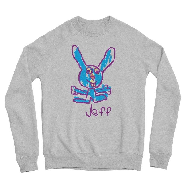 Jeff's Rabbit Drawing Women's Sponge Fleece Sweatshirt by My Metal Hand Artist Shop