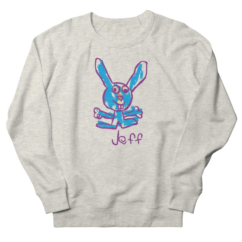 Jeff's Rabbit Drawing Men's French Terry Sweatshirt by My Metal Hand Artist Shop