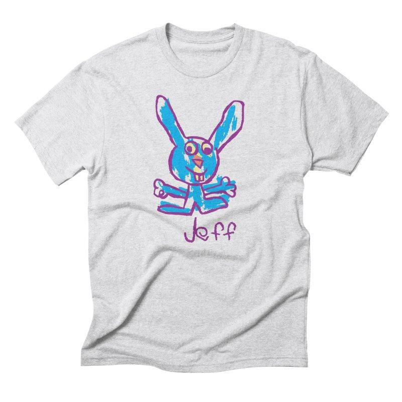 Jeff's Rabbit Drawing Men's Triblend T-Shirt by My Metal Hand Artist Shop