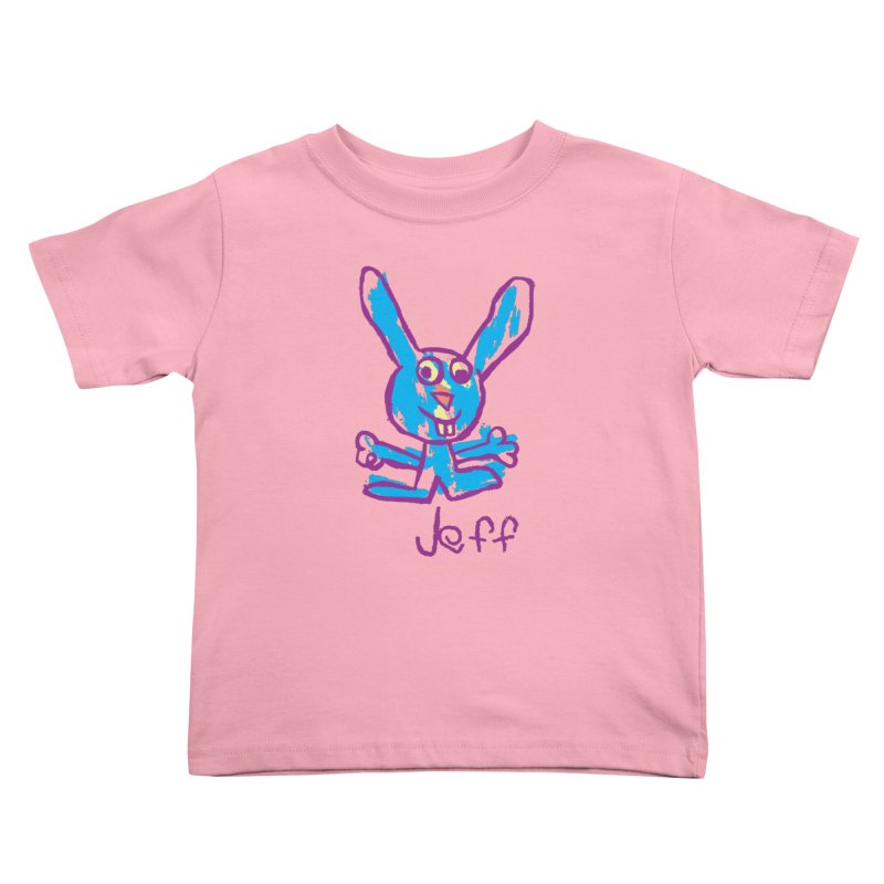 Jeff's Rabbit Drawing Kids Toddler T-Shirt by My Metal Hand Artist Shop