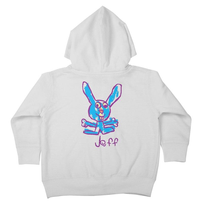 Jeff's Rabbit Drawing Kids Toddler Zip-Up Hoody by My Metal Hand Artist Shop