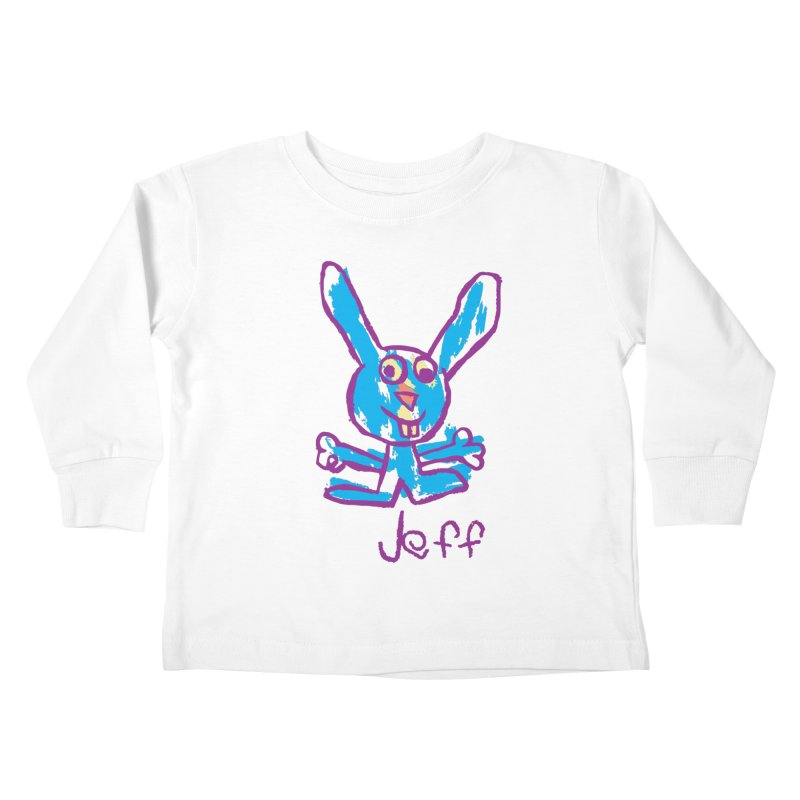 Jeff's Rabbit Drawing Kids Toddler Longsleeve T-Shirt by My Metal Hand Artist Shop