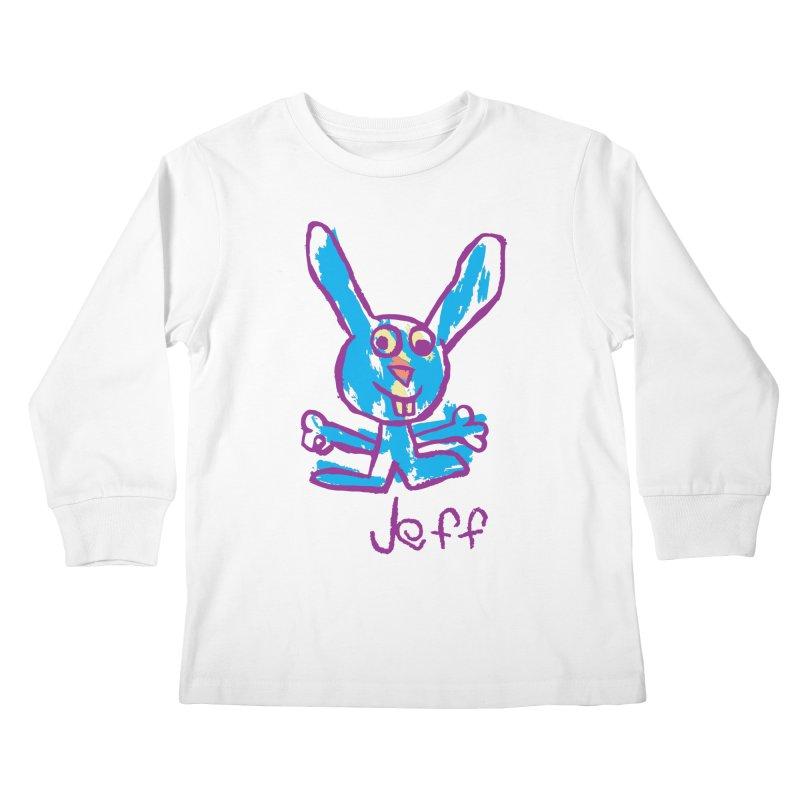 Jeff's Rabbit Drawing Kids Longsleeve T-Shirt by My Metal Hand Artist Shop