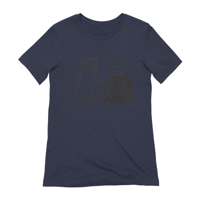 Donald and Walter Women's Extra Soft T-Shirt by My Metal Hand Artist Shop