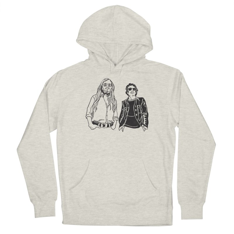 Donald and Walter Women's French Terry Pullover Hoody by My Metal Hand Artist Shop