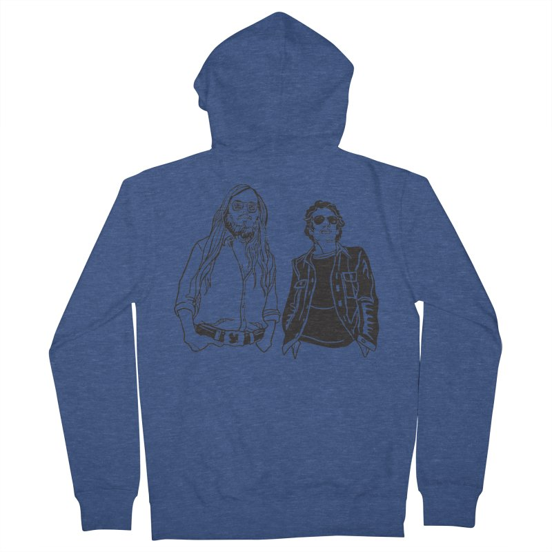 Donald and Walter Women's French Terry Zip-Up Hoody by My Metal Hand Artist Shop