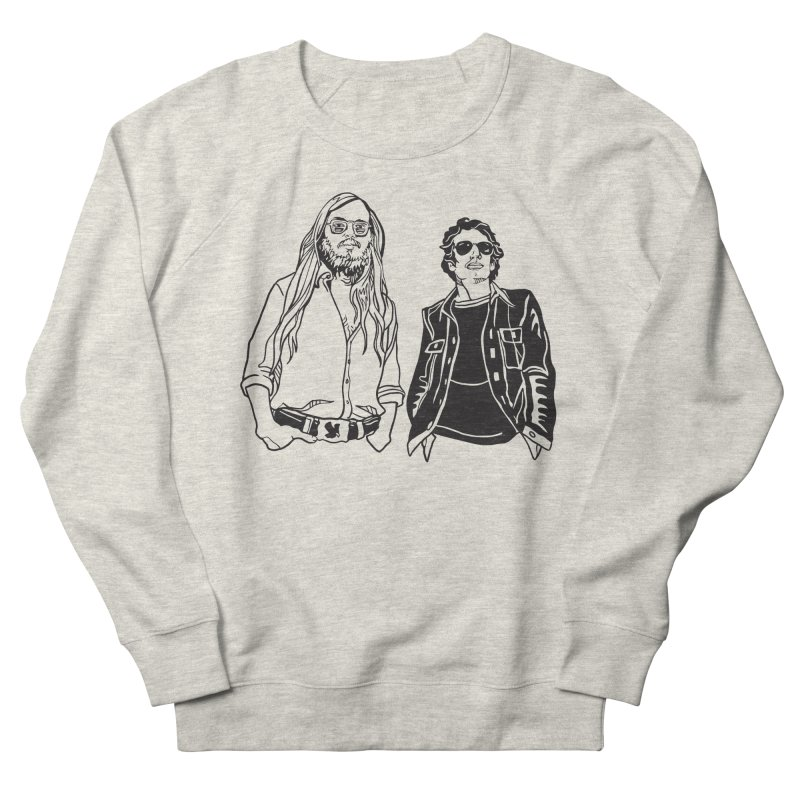 Donald and Walter Men's French Terry Sweatshirt by My Metal Hand Artist Shop