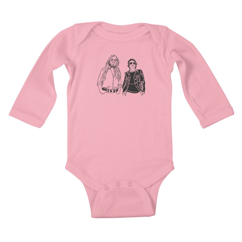 Donald and Walter Kids Baby Longsleeve Bodysuit by My Metal Hand Artist Shop