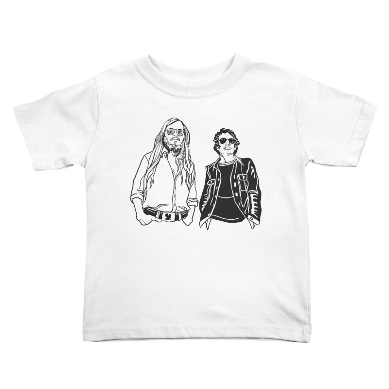 Donald and Walter Kids Toddler T-Shirt by My Metal Hand Artist Shop
