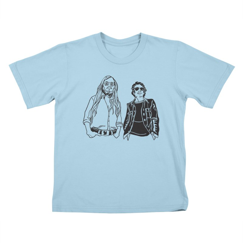 Donald and Walter Kids T-Shirt by My Metal Hand Artist Shop