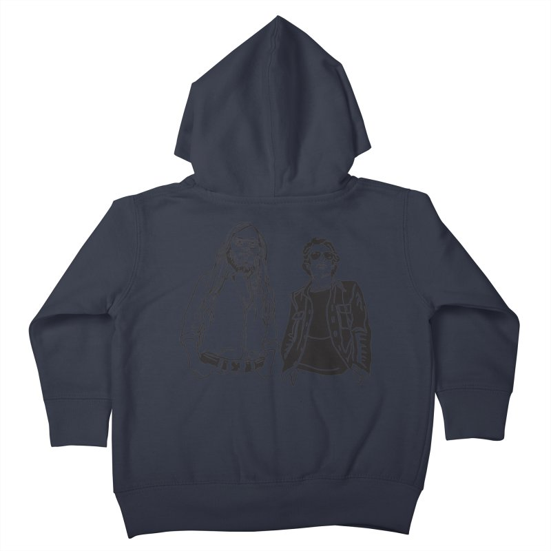 Donald and Walter Kids Toddler Zip-Up Hoody by My Metal Hand Artist Shop