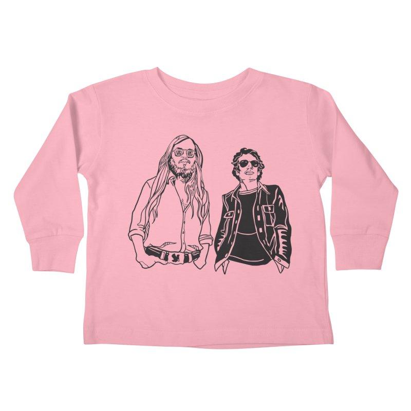 Donald and Walter Kids Toddler Longsleeve T-Shirt by My Metal Hand Artist Shop