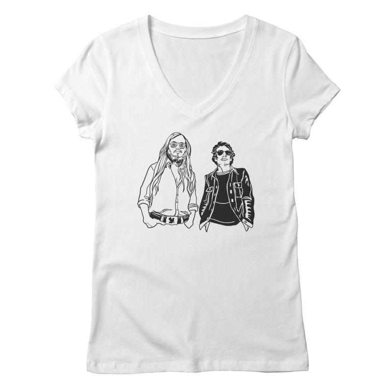 Donald and Walter Women's Regular V-Neck by My Metal Hand Artist Shop