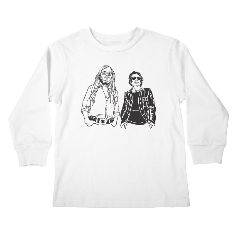 Donald and Walter Kids Longsleeve T-Shirt by My Metal Hand Artist Shop