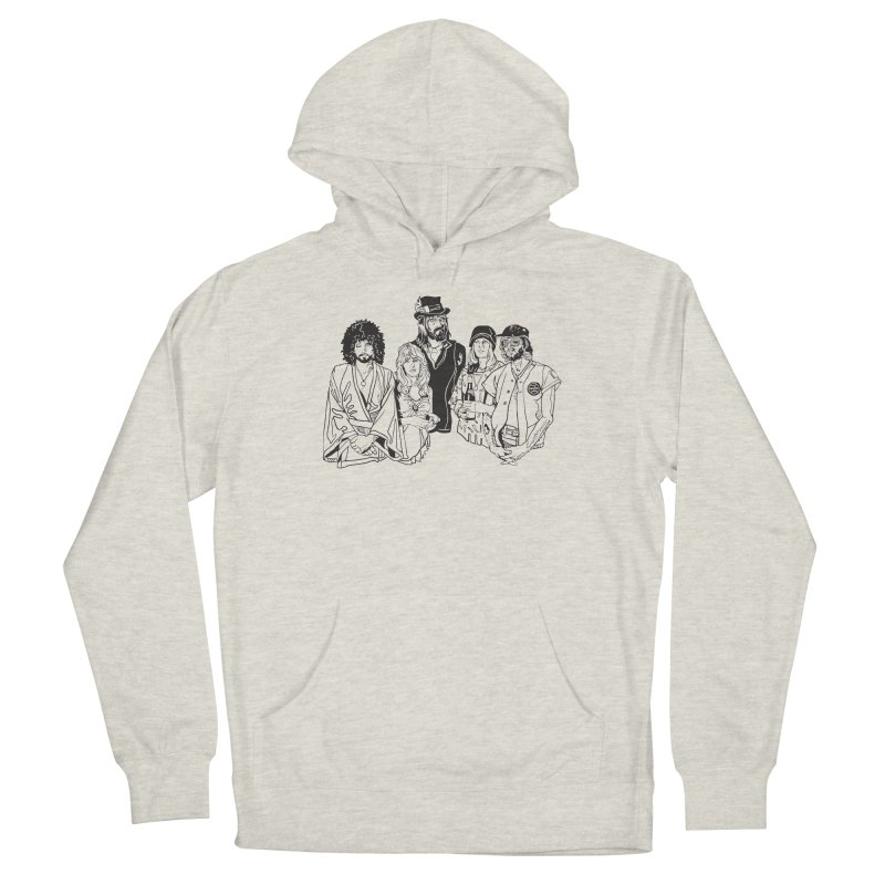 FM Men's French Terry Pullover Hoody by My Metal Hand Artist Shop