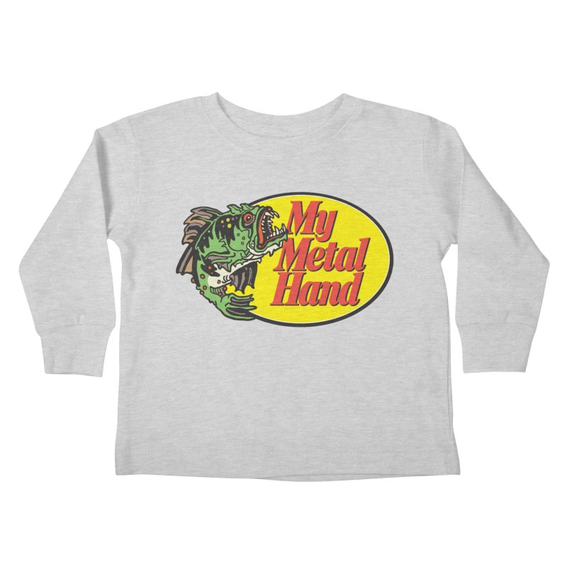My Mutant Bass Kids Toddler Longsleeve T-Shirt by My Metal Hand Artist Shop