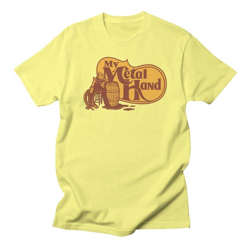 My Metal Barrel Men's T-Shirt by My Metal Hand Artist Shop