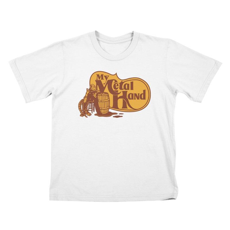 My Metal Barrel Kids T-Shirt by My Metal Hand Artist Shop