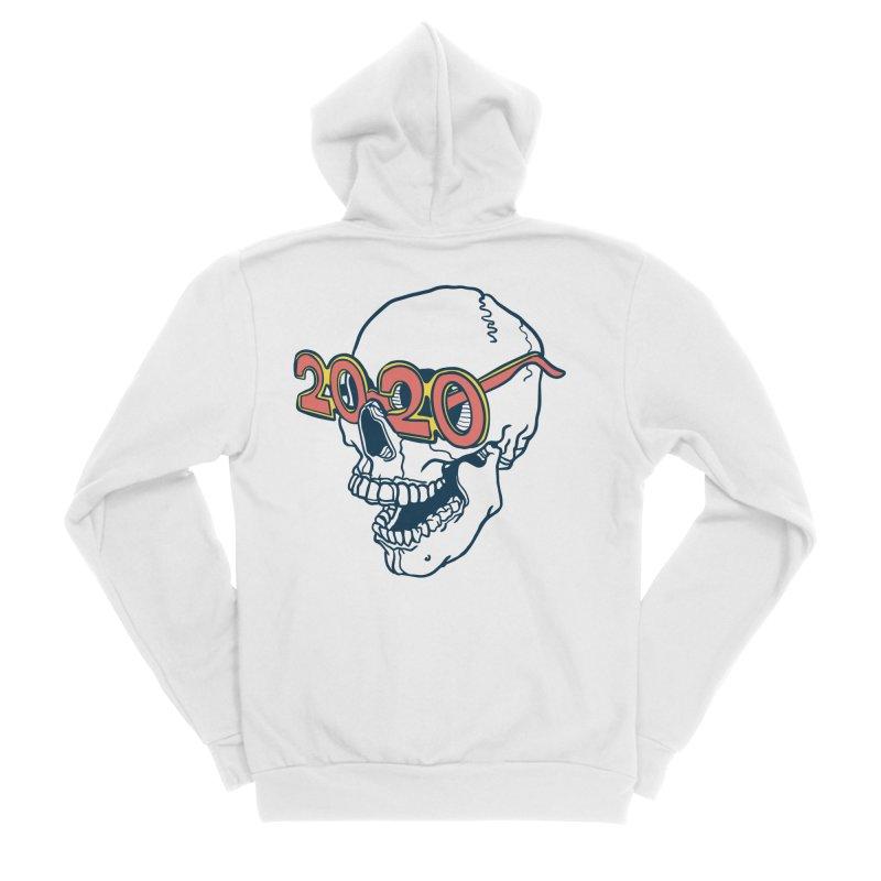 SKULL 2020 Men's Zip-Up Hoody by My Metal Hand Artist Shop