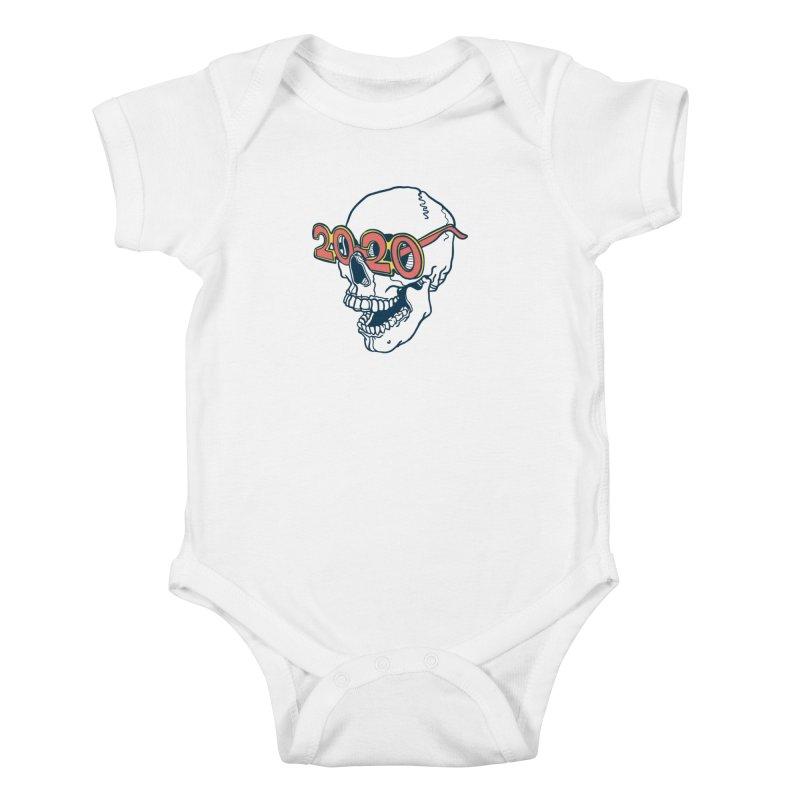 SKULL 2020 Kids Baby Bodysuit by My Metal Hand Artist Shop