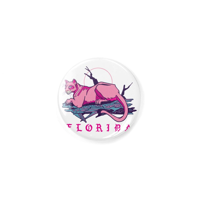 Pink Florida Panther Accessories Button by My Metal Hand Artist Shop