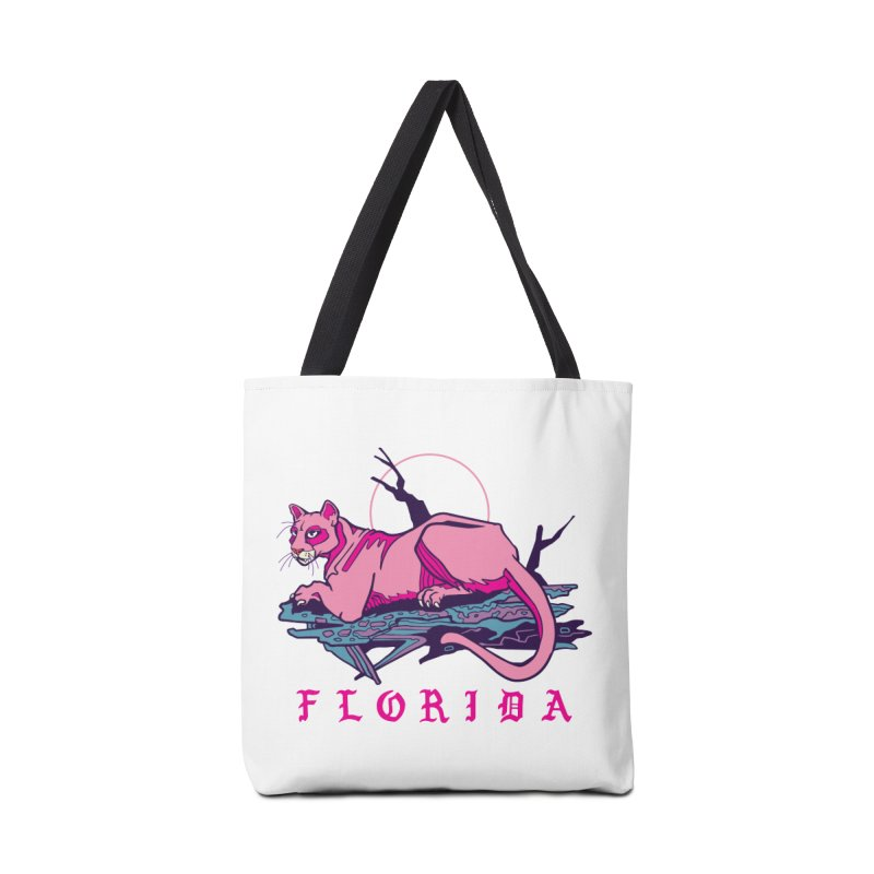 Pink Florida Panther Accessories Bag by My Metal Hand Artist Shop