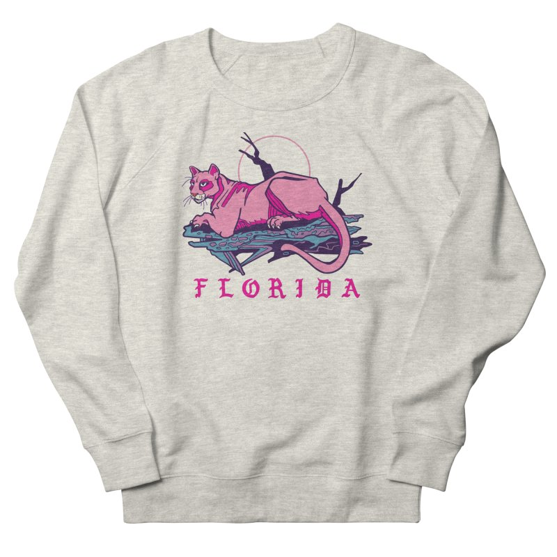 Pink Florida Panther Men's Sweatshirt by My Metal Hand Artist Shop