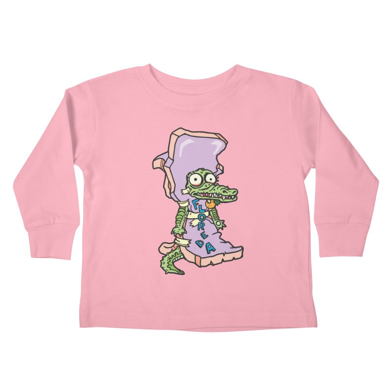 Floreda Alligator Kids Toddler Longsleeve T-Shirt by My Metal Hand Artist Shop
