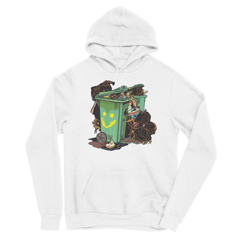 Smile Trash Men's Pullover Hoody by My Metal Hand Artist Shop