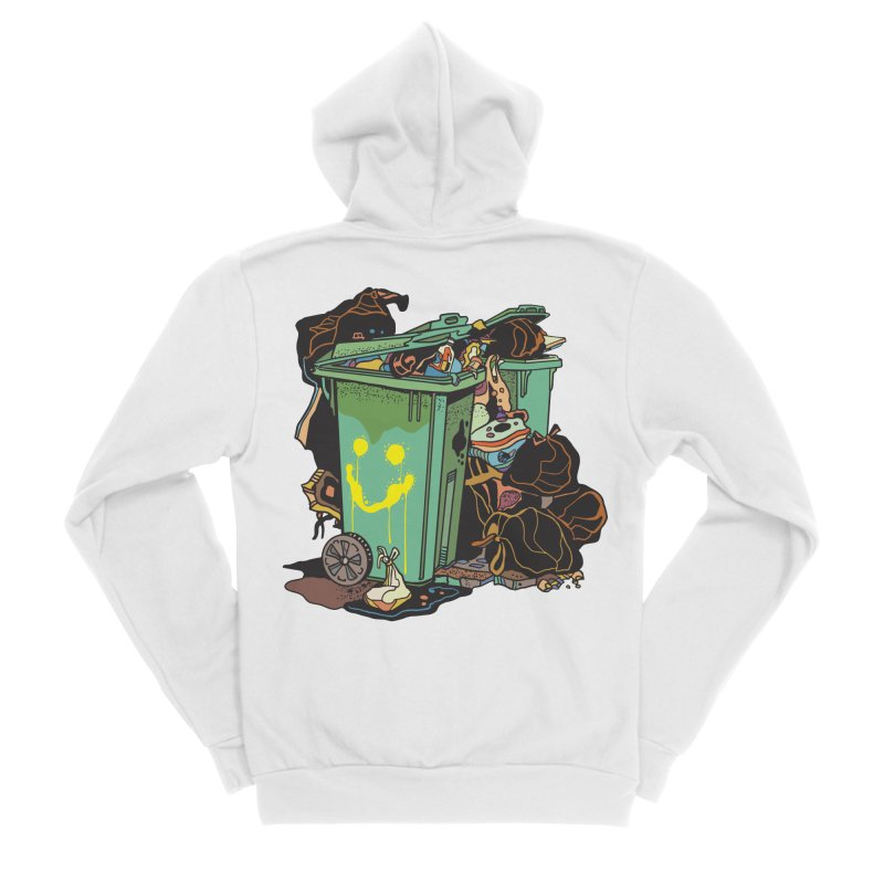 Smile Trash Men's Zip-Up Hoody by My Metal Hand Artist Shop