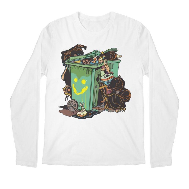 Smile Trash Men's Longsleeve T-Shirt by My Metal Hand Artist Shop