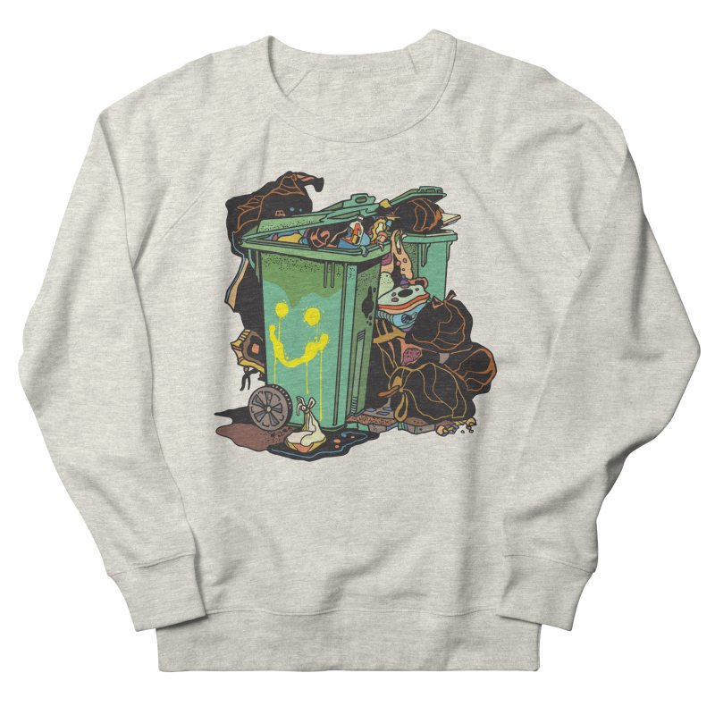 Smile Trash Men's Sweatshirt by My Metal Hand Artist Shop