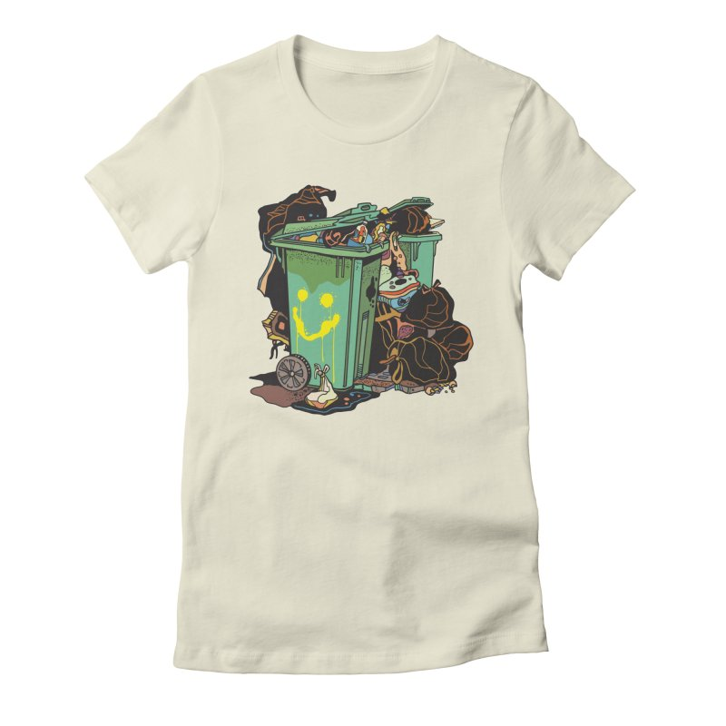 Smile Trash Women's T-Shirt by My Metal Hand Artist Shop