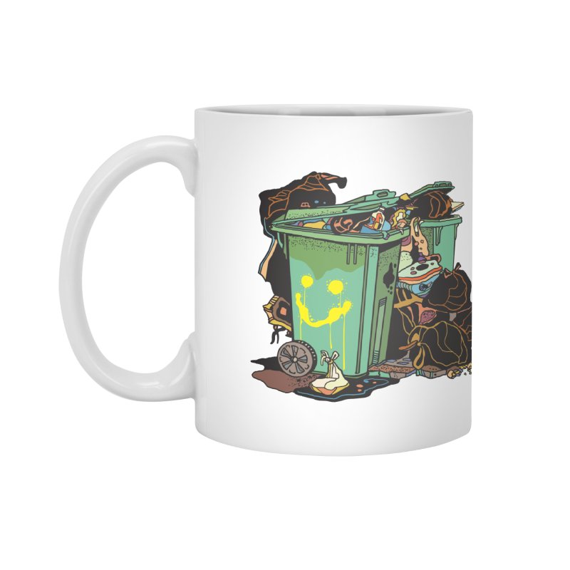 Smile Trash Accessories Mug by My Metal Hand Artist Shop