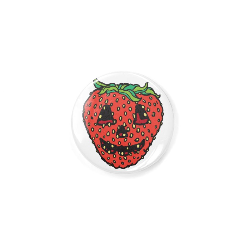 Strawberry Jack O Lantern Accessories Button by My Metal Hand Artist Shop
