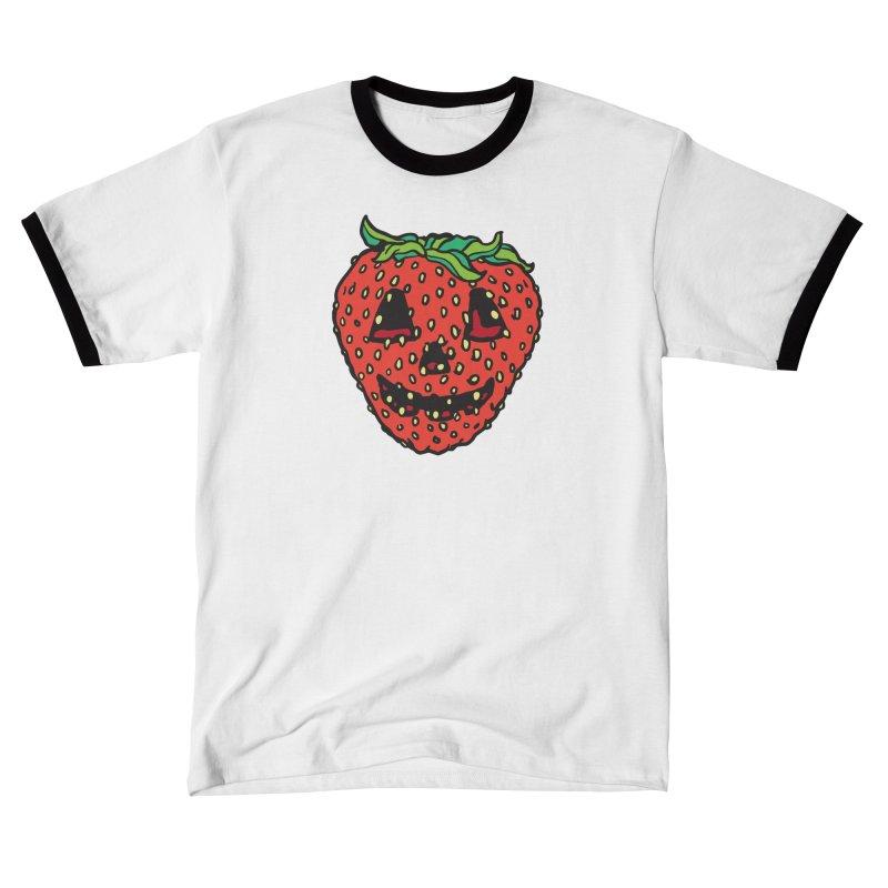 Strawberry Jack O Lantern Women's T-Shirt by My Metal Hand Artist Shop