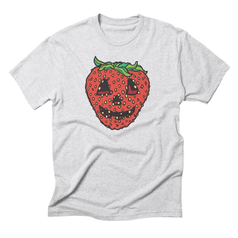 Strawberry Jack O Lantern Men's T-Shirt by My Metal Hand Artist Shop