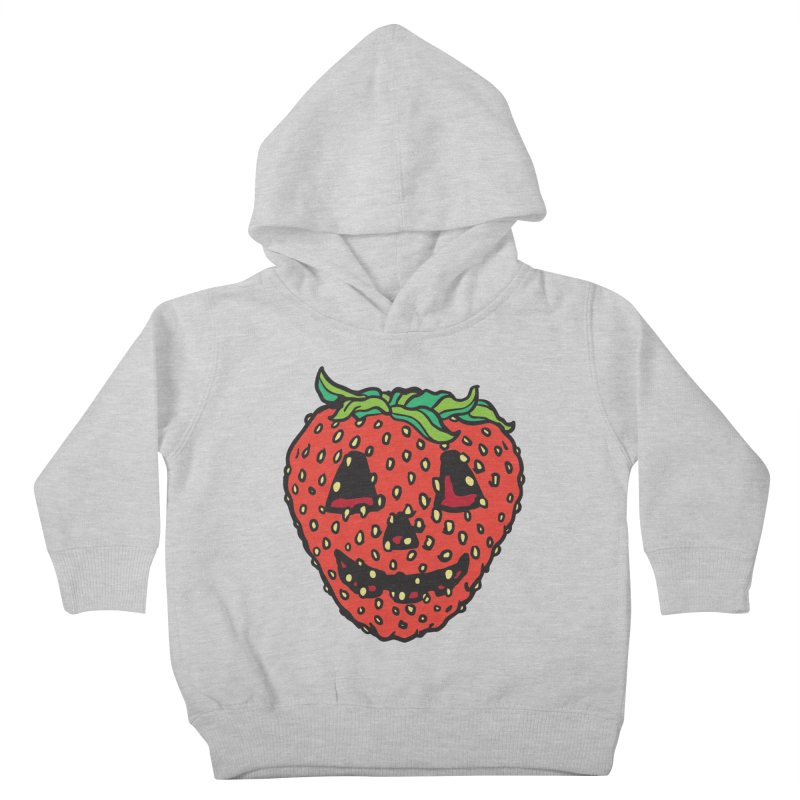 Strawberry Jack O Lantern Kids Toddler Pullover Hoody by My Metal Hand Artist Shop