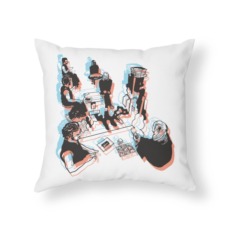 F&E NP Home Throw Pillow by My Metal Hand Artist Shop