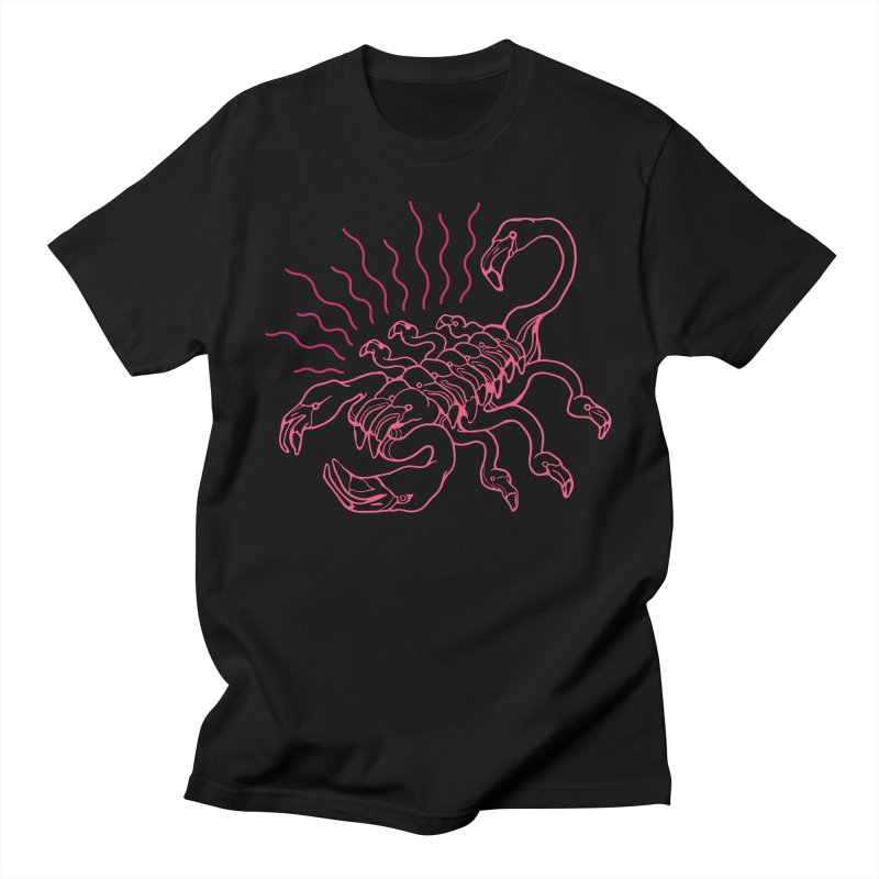 Flamingo Scorpio Men's T-Shirt by My Metal Hand Artist Shop