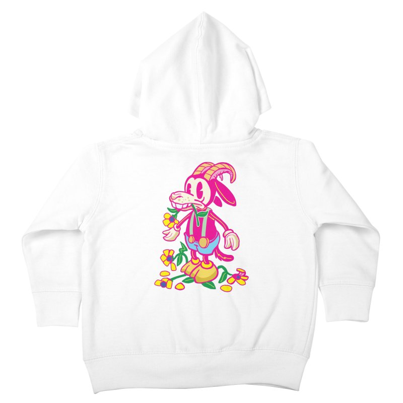 Goat and Flowers Kids Toddler Zip-Up Hoody by My Metal Hand Artist Shop