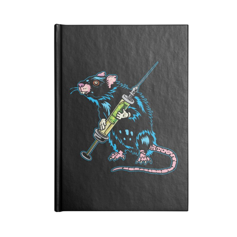 Syringe Rat Accessories Lined Journal Notebook by My Metal Hand Artist Shop