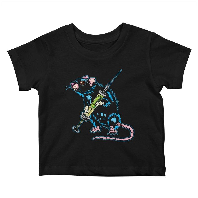 Syringe Rat Kids Baby T-Shirt by My Metal Hand Artist Shop