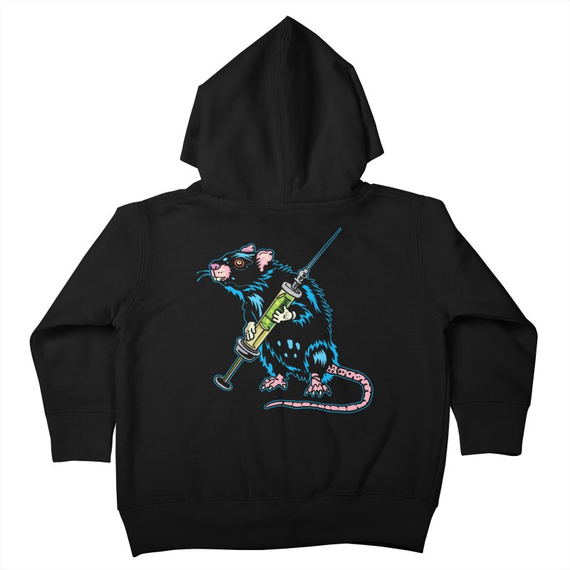 Syringe Rat Kids Toddler Zip-Up Hoody by My Metal Hand Artist Shop