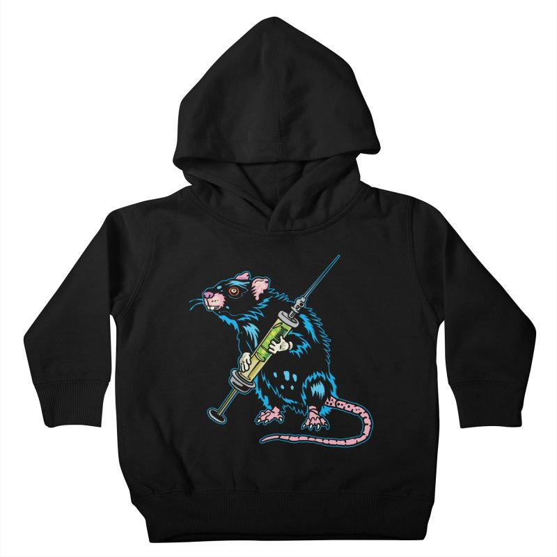 Syringe Rat Kids Toddler Pullover Hoody by My Metal Hand Artist Shop