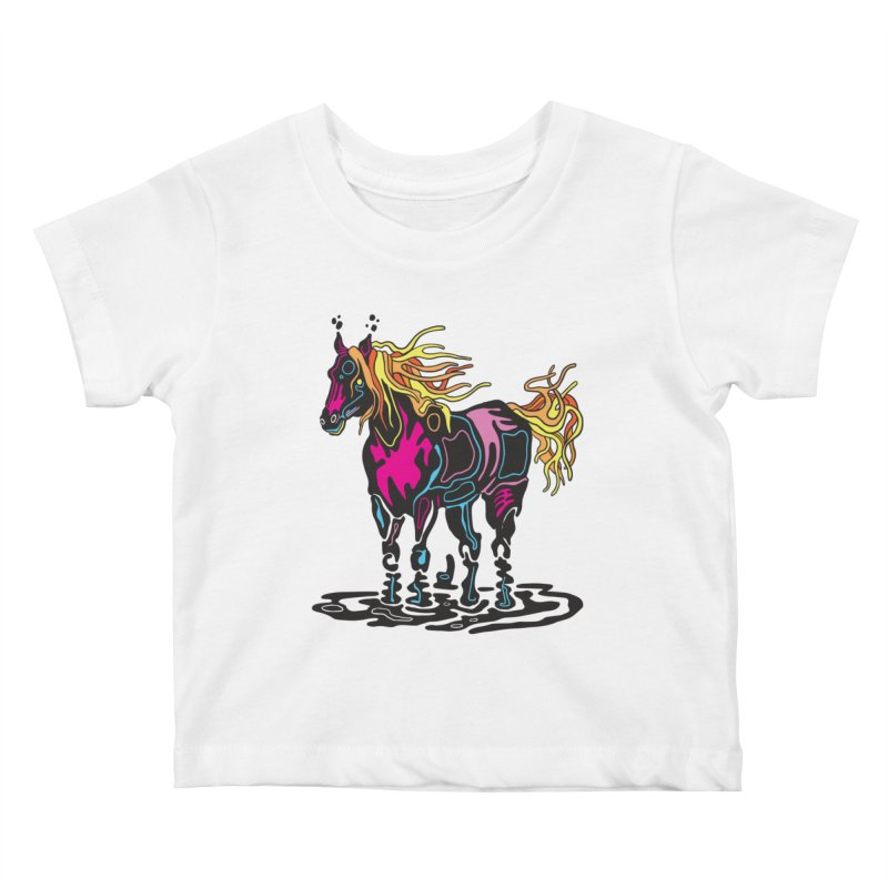 Pooka Horse Kids Baby T-Shirt by My Metal Hand Artist Shop